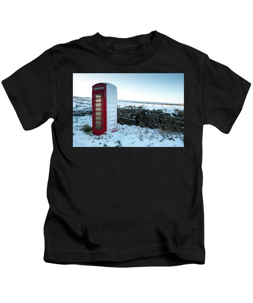 Snowy Telephone Box Kids T-Shirt