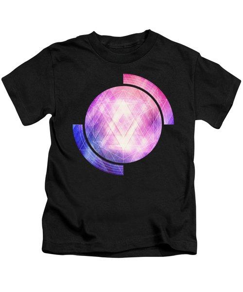Soft Modern Fashion Pink Purple Bluetexture  Soft Light Glass Style   Triangle   Pattern Edit Kids T-Shirt