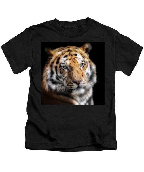 Soft Tiger Portrait Kids T-Shirt