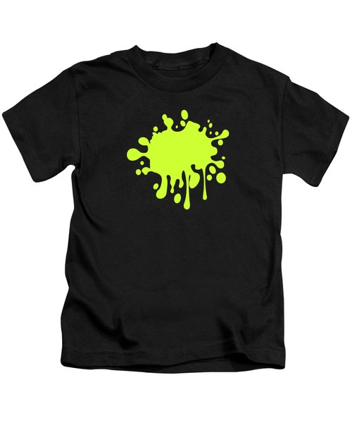 Solid Electric Lime Color Kids T-Shirt by Garaga Designs