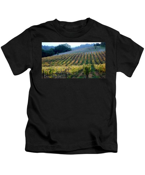 Sonoma County Vineyards Near Healdsburg Kids T-Shirt