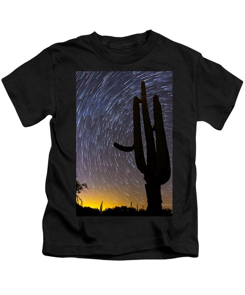Sonoran Startrails - Reaching For The Stars Kids T-Shirt