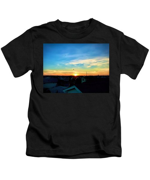 Kids T-Shirt featuring the photograph South Bethany Sunset by Chris Montcalmo