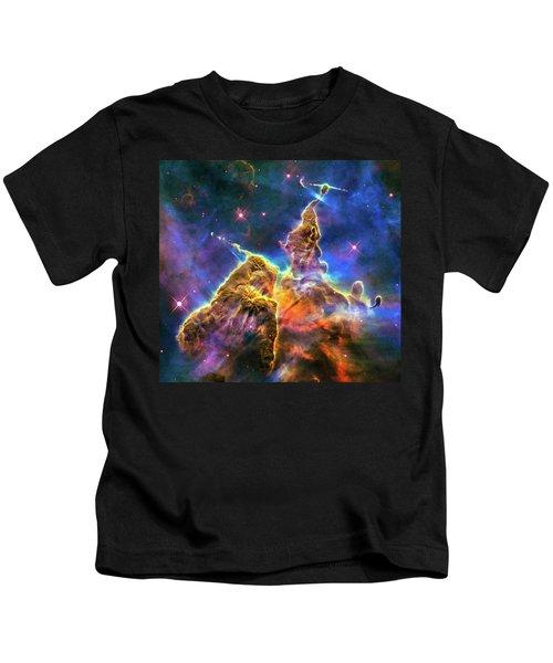 Space Image Mystic Mountain Carina Nebula Kids T-Shirt