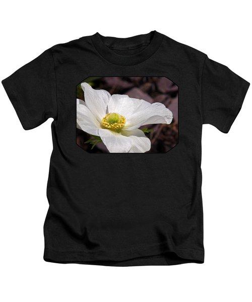 Sparkling White Anemone Kids T-Shirt