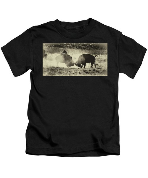 Sparring Partners - American Bison Kids T-Shirt