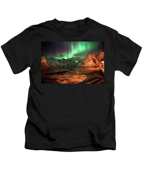 Spectacular Night In Lofoten 1 Kids T-Shirt