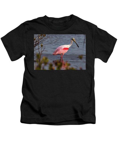 Spoonbill Fishing Kids T-Shirt