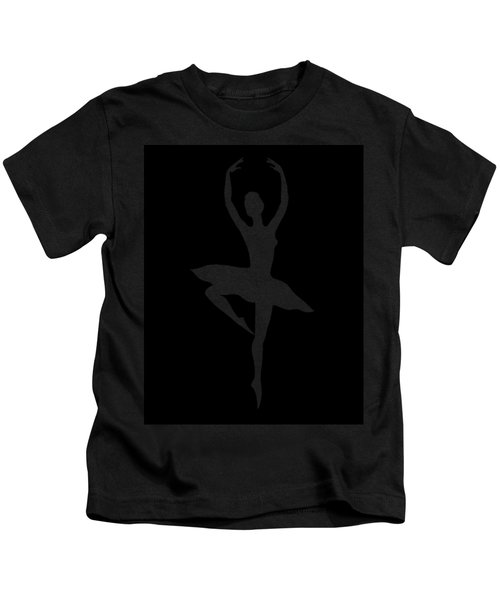 Spin Of Ballerina Silhouette Kids T-Shirt