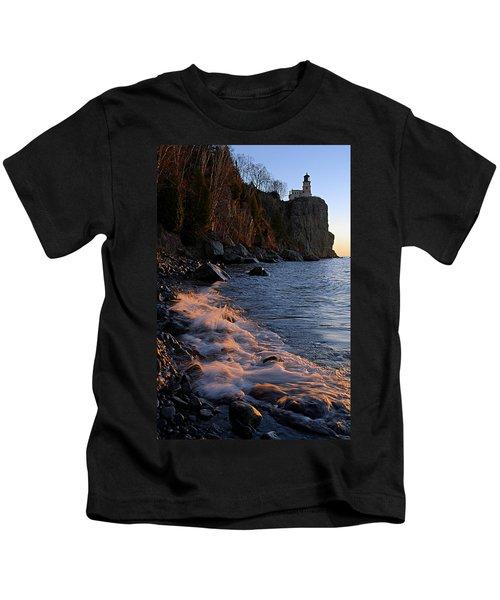 Split Rock Lighthouse At Dawn Kids T-Shirt