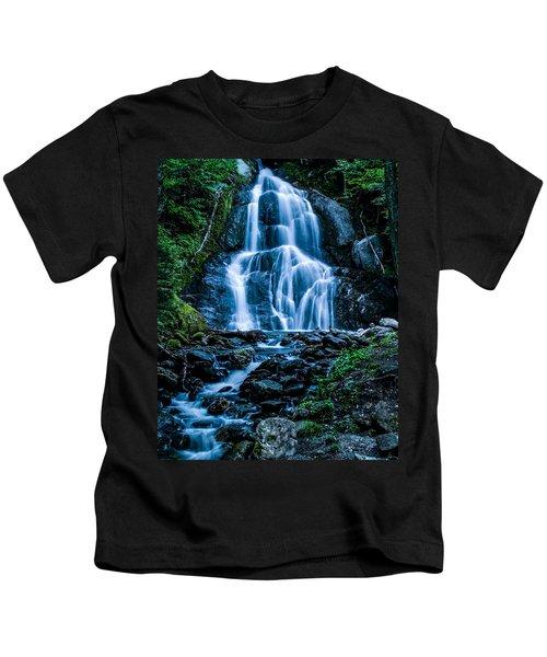Spring At Moss Glen Falls Kids T-Shirt