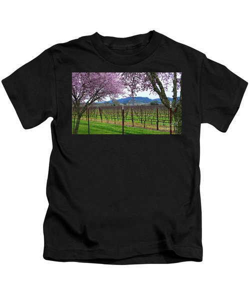 Spring Blossoms Near Calistoga Kids T-Shirt