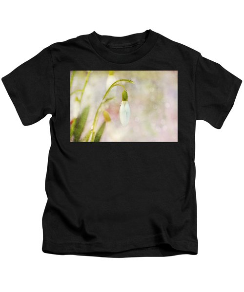 Spring Snowdrops And Bokeh Kids T-Shirt