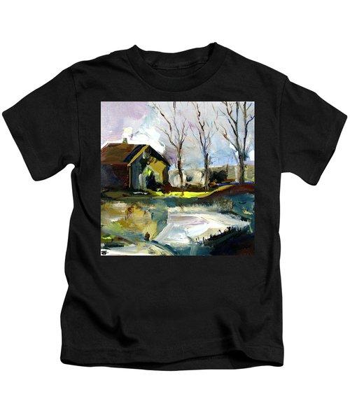 Springtime Barn Kids T-Shirt