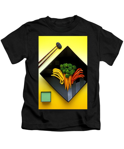 Square Plate Kids T-Shirt by Garry Gay