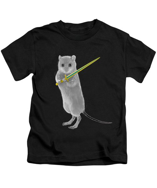 Squeaky, Warrior Mouse Kids T-Shirt