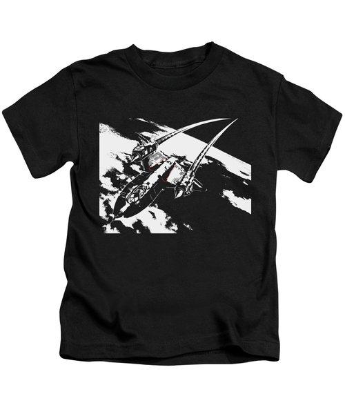 Sr-71 Flying High Kids T-Shirt by Ewan Tallentire