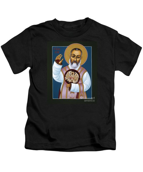 St Padre Pio Mother Pelican 047 Kids T-Shirt