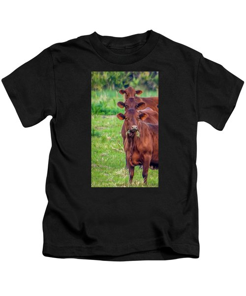 Stacked Up Cows          Kids T-Shirt