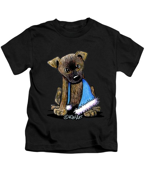 Staffordshire Bull Terrier Brindle Pup Kids T-Shirt