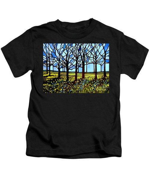 Stained Glass Trees Kids T-Shirt