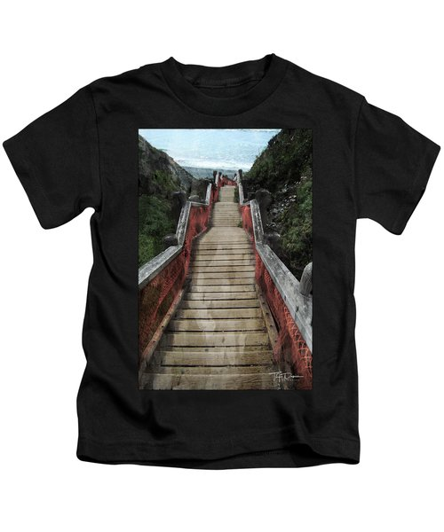 Stairs To Bliss Kids T-Shirt