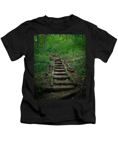 Stairway At Unicoi Gap On The At Kids T-Shirt