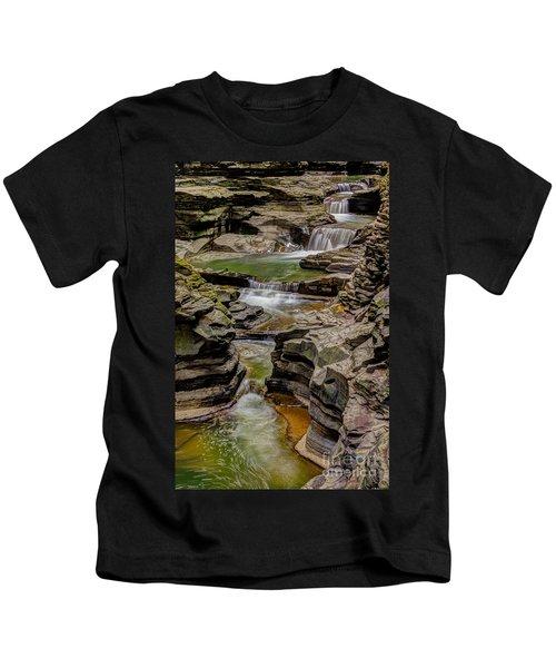 Stairway Waterfalls Kids T-Shirt