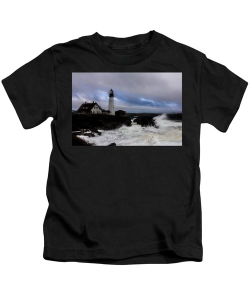 Standing In The Storm Kids T-Shirt