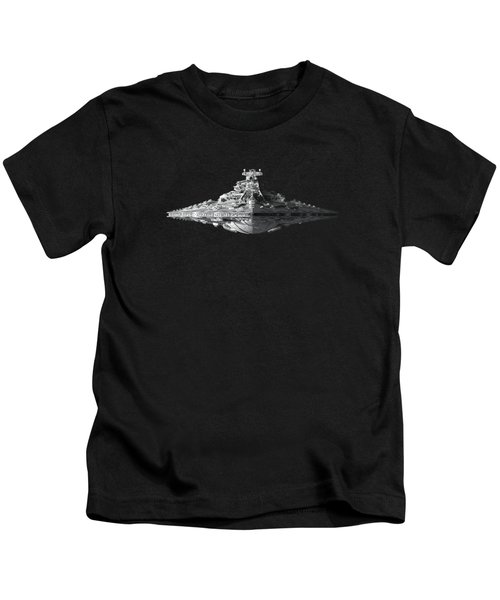 Star Destroyer Kids T-Shirt by Ian King