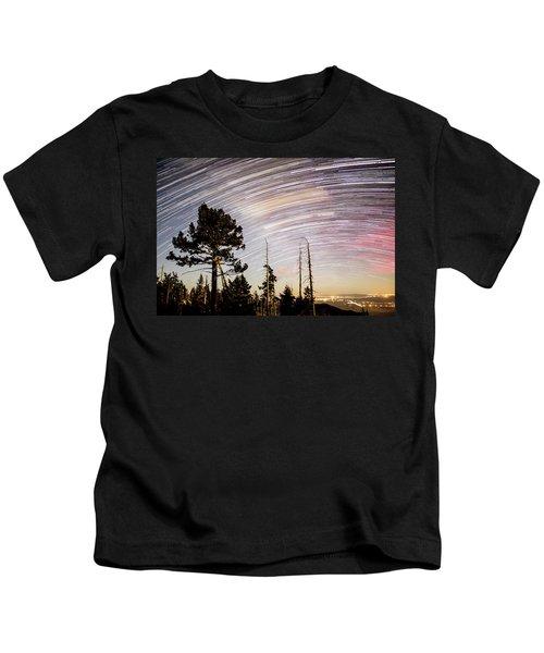 Star Trails At Fort Grant Kids T-Shirt