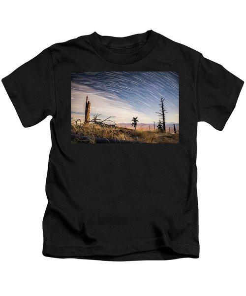 Star Trails Over Mt. Graham Kids T-Shirt
