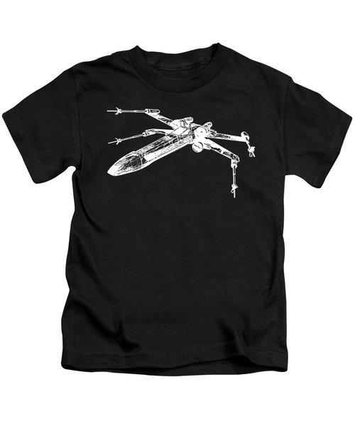 Star Wars T-65 X-wing Starfighter White Ink Tee Kids T-Shirt