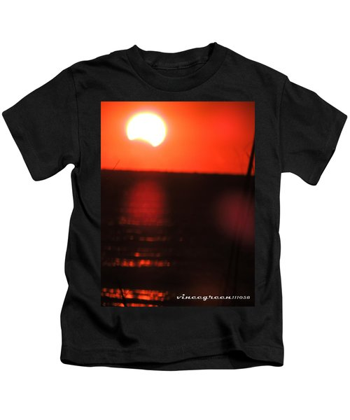 Staring Into A Star Eclipsed Kids T-Shirt