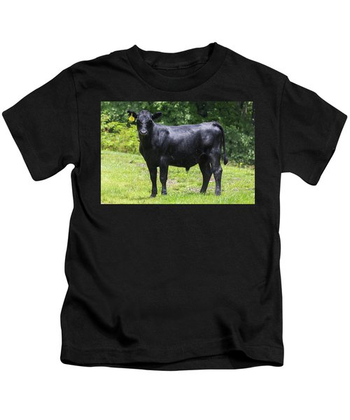 Staring Steer Kids T-Shirt