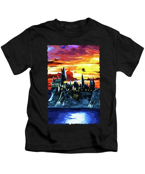 Starry Night Hogwarts Kids T-Shirt