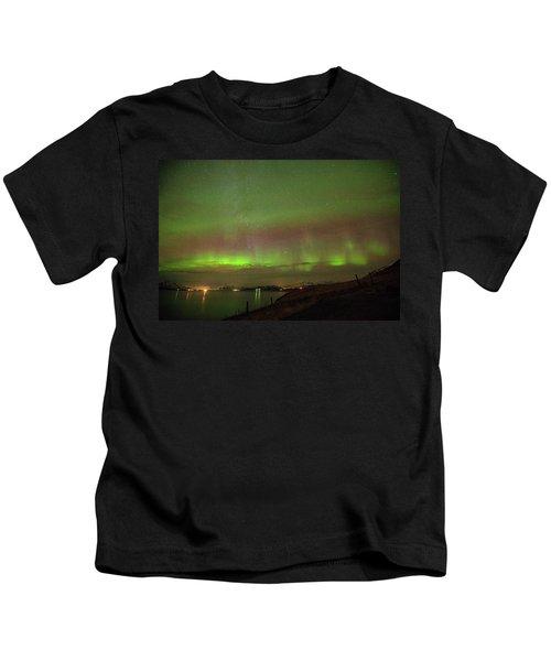 Stars And Northern Lights Kids T-Shirt