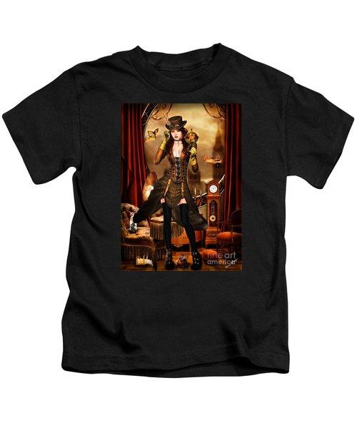 Steampunk Girl Kids T-Shirt