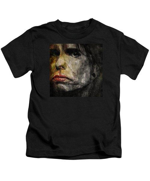 Steven Tyler  Kids T-Shirt by Paul Lovering