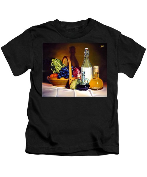 Still Life In Oil Kids T-Shirt