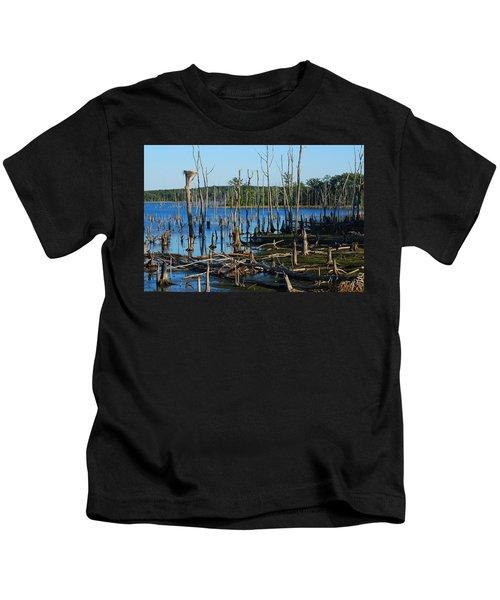 Still Wood - Manasquan Reservoir Kids T-Shirt