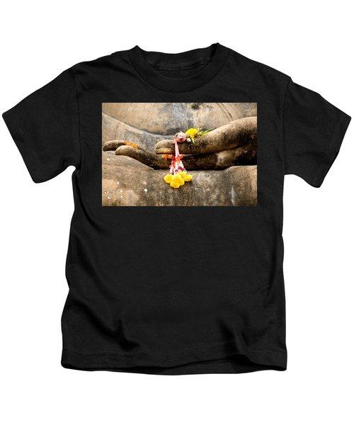 Stone Hand Of Buddha Kids T-Shirt