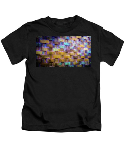 Brick Wall In Abstract 499 Kids T-Shirt