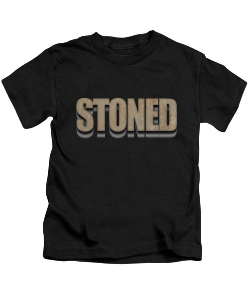 Kids T-Shirt featuring the digital art Stoned Tee by Edward Fielding