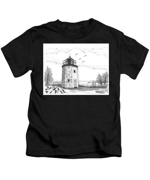 Stony Point Lighthouse Kids T-Shirt