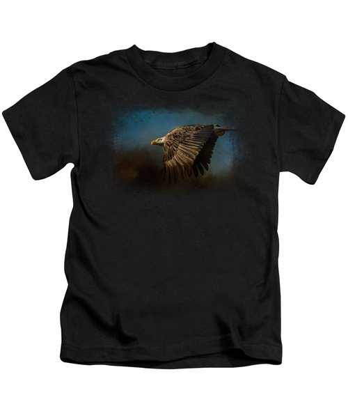 Storm Chaser - Bald Eagle Kids T-Shirt by Jai Johnson
