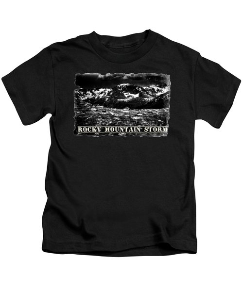 Storm Clouds Gathering In The Rockies Kids T-Shirt