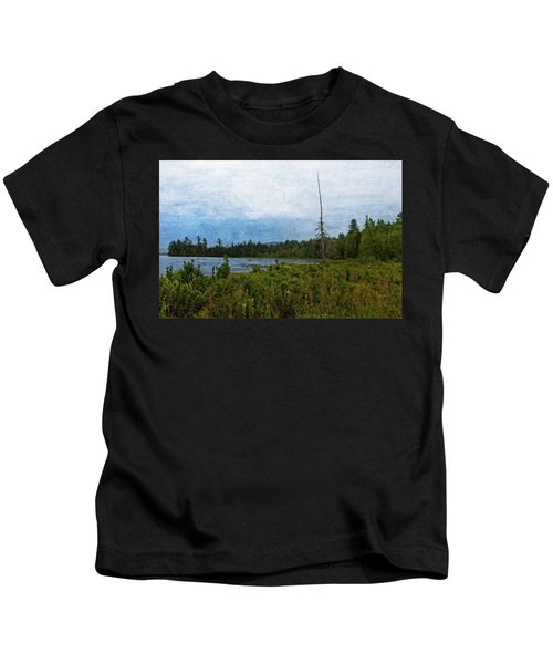 Storm On Raquette Lake Kids T-Shirt