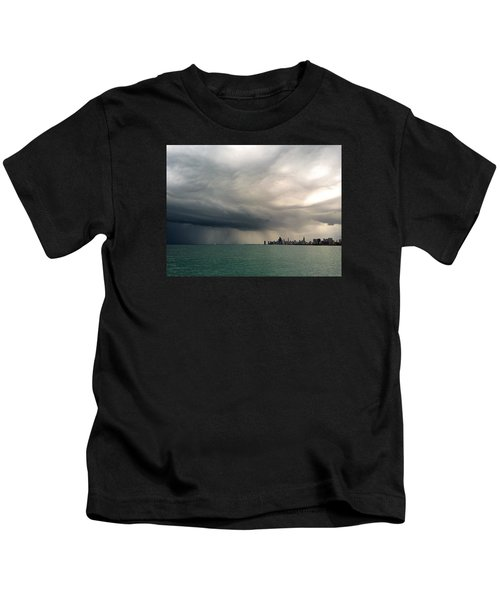 Storms Over Chicago Kids T-Shirt