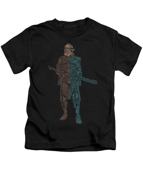 Stormtrooper Samurai - Star Wars Art - Minimal Kids T-Shirt